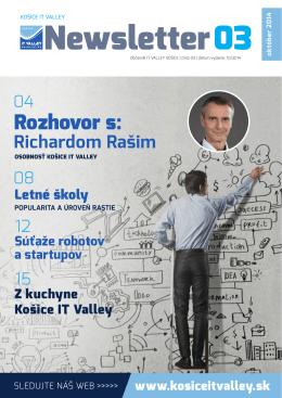 Rozhovor s: - Košice IT Valley
