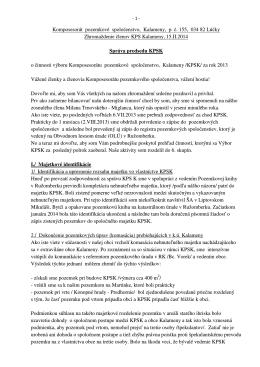 3.vz-správa predsedu - 15.02.2014