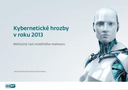 Kybernetické hrozby v roku 2013