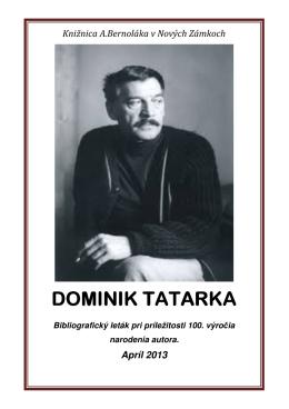 DOMINIK TATARKA DOMINIK TATARKA