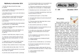 Leták Akcie 365 na december 2014