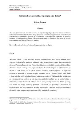 Národ: charakteristika, typológia a čo ďalej?