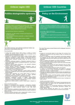 Politika ochrany životného prostredia - PDF
