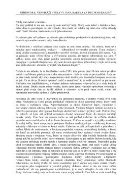 Príhovor kurátora výstavy (PDF formát)