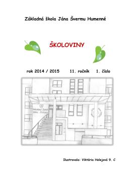 Školský časopis 2014/2015 č.1 - Základná škola Jána Švermu