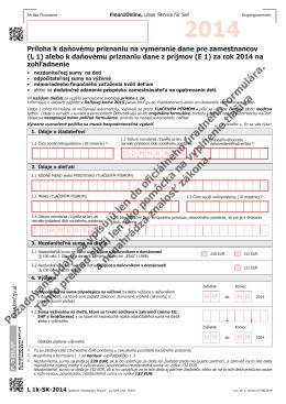 Požadované údaje sa vpisujú len do oficiálneho