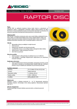 Raptor Disc 125mm - RPT