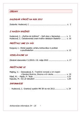 Knihovnícke informácie č. 34-35/2011