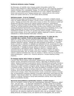 Článok o škole Taojogy