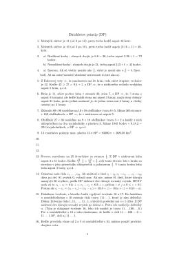 Dirichletov princíp (DP)