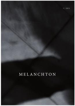 Melanchton 1/2013