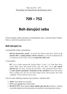709 – 752 Boh darujúci seba