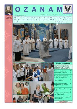 OZANAM 3 2012 - Spolok sv. Vincenta de Paul na Slovensku