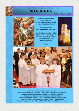 Michael - jún 2011 - Rímskokatolícka cirkev Farnosť Levice mesto