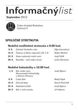 Informačnýlist September 2013