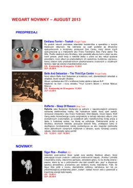 WEGART NOVINKY – AUGUST 2013