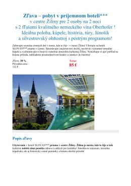 Zľava – pobyt v príjemnom hoteli