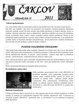 Čaklovský občasník č. 18