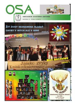 OSA 3/2012 - obec Svätý Anton