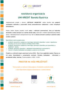 nezisková organizácia UNI KREDIT Banská Bystrica