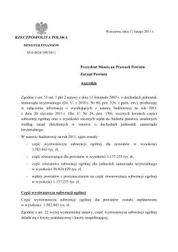 projekt 2012 - województwo