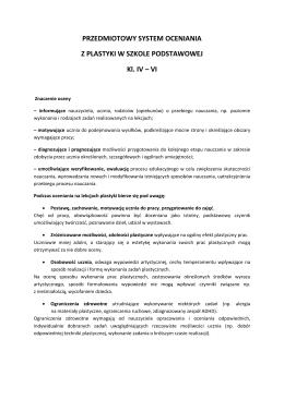 regulamin oceniania zachowania uczniów w szkole podstawowej w