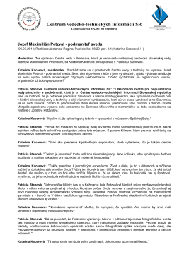 Jozef Maximilián Petzval - podmaniteľ svetla - NCP
