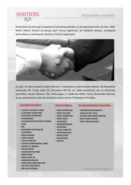 Čítajte viac... - Armstrong Competence ConsultingArmstrong