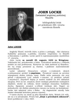 John Locke - Knižnica Antona Bernoláka
