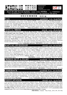 december 2014 - Kinoklub Nitra