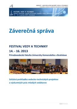 Záverečná správa FVAT 2013