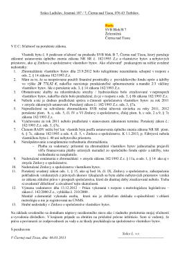 Szűcs Ladislav, Jesenná 187 / 7, Čierna nad Tisou, 076