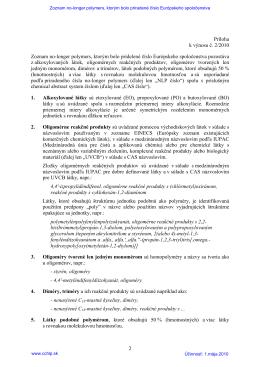 Príloha k výnosu č. 2/2010 Zoznam no