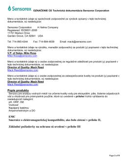 Popis produktu EMC Smernice o elektromagnetickej