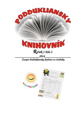 Ročník 5 číslo 2 - Podduklianska knižnica vo Svidníku