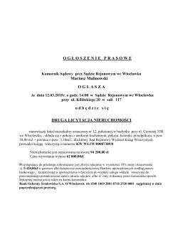 pobierz ogBoszenie - Radomszczańska Spółdzielnia Mieszkaniowa