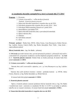Zápisnica OZ 27.3.2014 - Obec Krásnohorské Podhradie