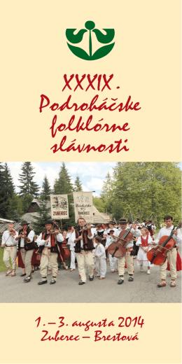 Bulletin XXXIX. Podroháčskych folklórnych slávností