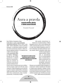 Aura a pravda - Kritika & Kontext