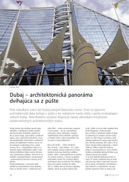 Dubaj – architektonická panoráma dvíhajúca sa z