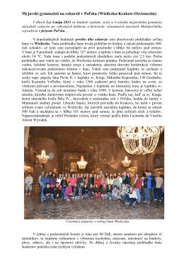 Myjavskí gymnazisti na exkurzii v Poľsku (Wieliczka