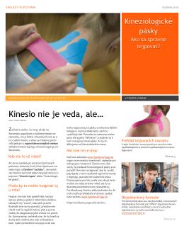 Suhrná brožúrka tejpovania