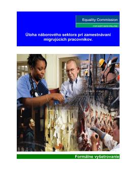 Úloha náborového sektora pri zamestnávaní migrujúcich