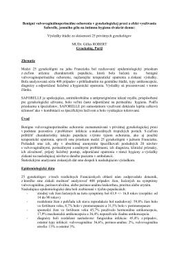 Benigné vulvovaginálnoperineálne ochorenia v