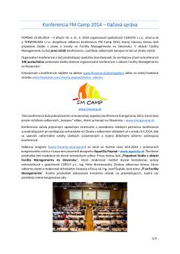 Konferencia FM Camp 2014 – tlačová správa