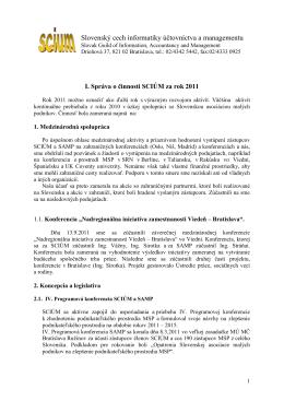2012 - Slovenská asociácia malých podnikov