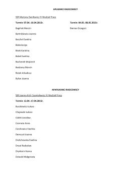 lista osób - podział na grupy