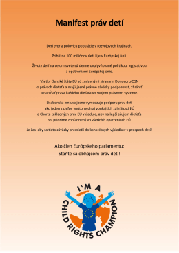 Manifest práv detí - Child Rights Manifesto