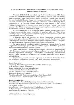 Kluby Sportowe w dniach 03-06.01.2015
