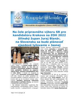 Olympijské aktuality 17/2013
